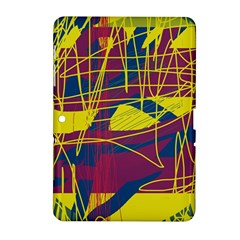Yellow high art abstraction Samsung Galaxy Tab 2 (10.1 ) P5100 Hardshell Case