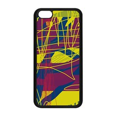 Yellow high art abstraction Apple iPhone 5C Seamless Case (Black)