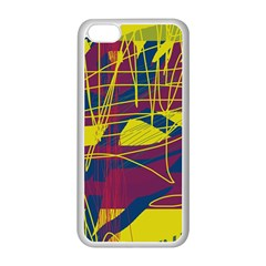 Yellow high art abstraction Apple iPhone 5C Seamless Case (White)