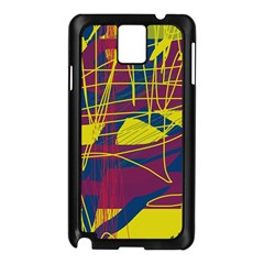 Yellow high art abstraction Samsung Galaxy Note 3 N9005 Case (Black)