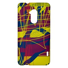 Yellow high art abstraction HTC One Max (T6) Hardshell Case