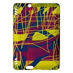 Yellow high art abstraction Kindle Fire HDX Hardshell Case