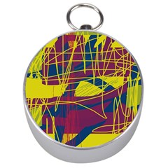 Yellow high art abstraction Silver Compasses