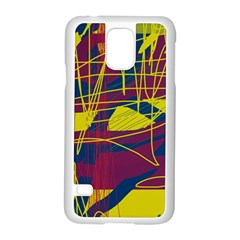 Yellow high art abstraction Samsung Galaxy S5 Case (White)