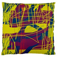 Yellow high art abstraction Standard Flano Cushion Case (Two Sides)