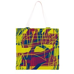 Yellow high art abstraction Grocery Light Tote Bag