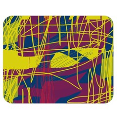 Yellow high art abstraction Double Sided Flano Blanket (Medium)