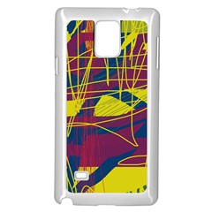 Yellow high art abstraction Samsung Galaxy Note 4 Case (White)