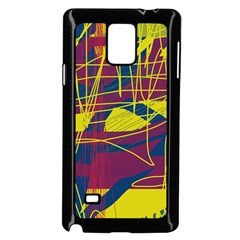 Yellow high art abstraction Samsung Galaxy Note 4 Case (Black)