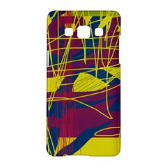 Yellow high art abstraction Samsung Galaxy A5 Hardshell Case