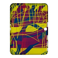 Yellow high art abstraction Samsung Galaxy Tab 4 (10.1 ) Hardshell Case