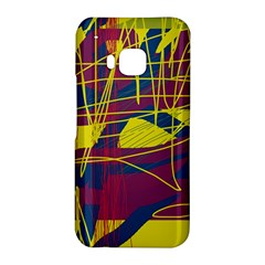 Yellow high art abstraction HTC One M9 Hardshell Case