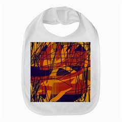 Orange High Art Bib