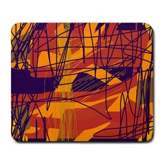 Orange high art Large Mousepads