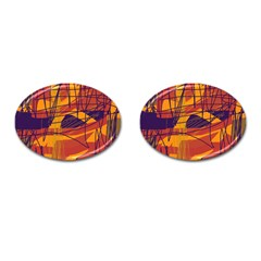 Orange high art Cufflinks (Oval)