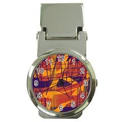 Orange high art Money Clip Watches