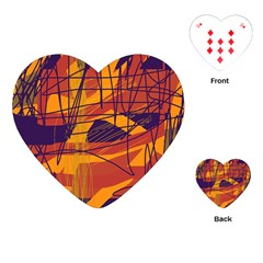 Orange high art Playing Cards (Heart)