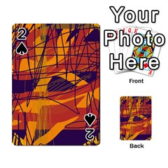Orange high art Playing Cards 54 Designs