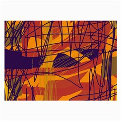Orange high art Large Glasses Cloth
