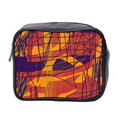 Orange high art Mini Toiletries Bag 2-Side