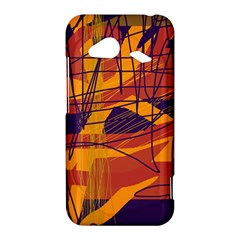 Orange high art HTC Droid Incredible 4G LTE Hardshell Case