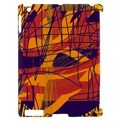 Orange high art Apple iPad 2 Hardshell Case (Compatible with Smart Cover)