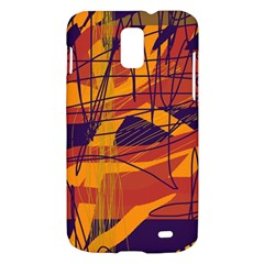 Orange high art Samsung Galaxy S II Skyrocket Hardshell Case
