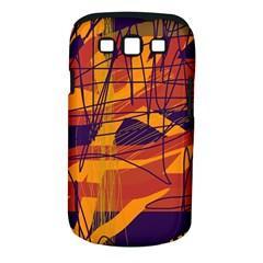 Orange high art Samsung Galaxy S III Classic Hardshell Case (PC+Silicone)