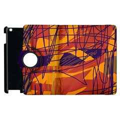 Orange high art Apple iPad 2 Flip 360 Case