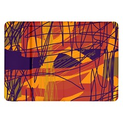 Orange high art Samsung Galaxy Tab 8.9  P7300 Flip Case