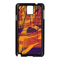 Orange high art Samsung Galaxy Note 3 N9005 Case (Black)
