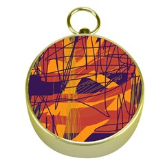 Orange high art Gold Compasses