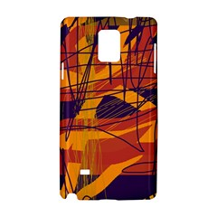 Orange high art Samsung Galaxy Note 4 Hardshell Case