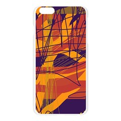 Orange high art Apple Seamless iPhone 6 Plus/6S Plus Case (Transparent)