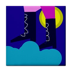 Walking on the clouds  Tile Coasters