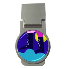 Walking on the clouds  Money Clips (Round)
