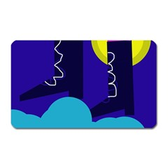 Walking on the clouds  Magnet (Rectangular)