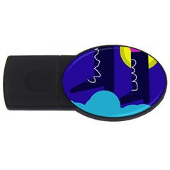 Walking on the clouds  USB Flash Drive Oval (2 GB)