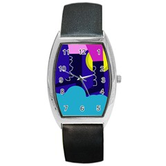 Walking on the clouds  Barrel Style Metal Watch