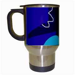 Walking on the clouds  Travel Mugs (White)