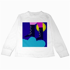 Walking on the clouds  Kids Long Sleeve T-Shirts