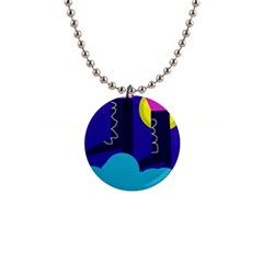 Walking on the clouds  Button Necklaces