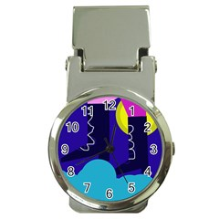 Walking on the clouds  Money Clip Watches