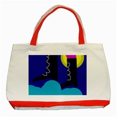 Walking on the clouds  Classic Tote Bag (Red)