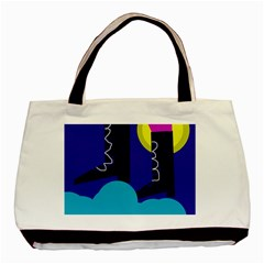 Walking on the clouds  Basic Tote Bag (Two Sides)