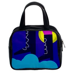 Walking on the clouds  Classic Handbags (2 Sides)