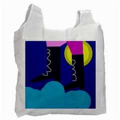 Walking on the clouds  Recycle Bag (One Side)