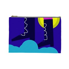 Walking on the clouds  Cosmetic Bag (Large)