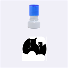 Walking on the clouds  Rubber Round Stamps (Small)