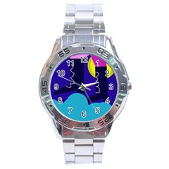 Walking on the clouds  Stainless Steel Analogue Watch